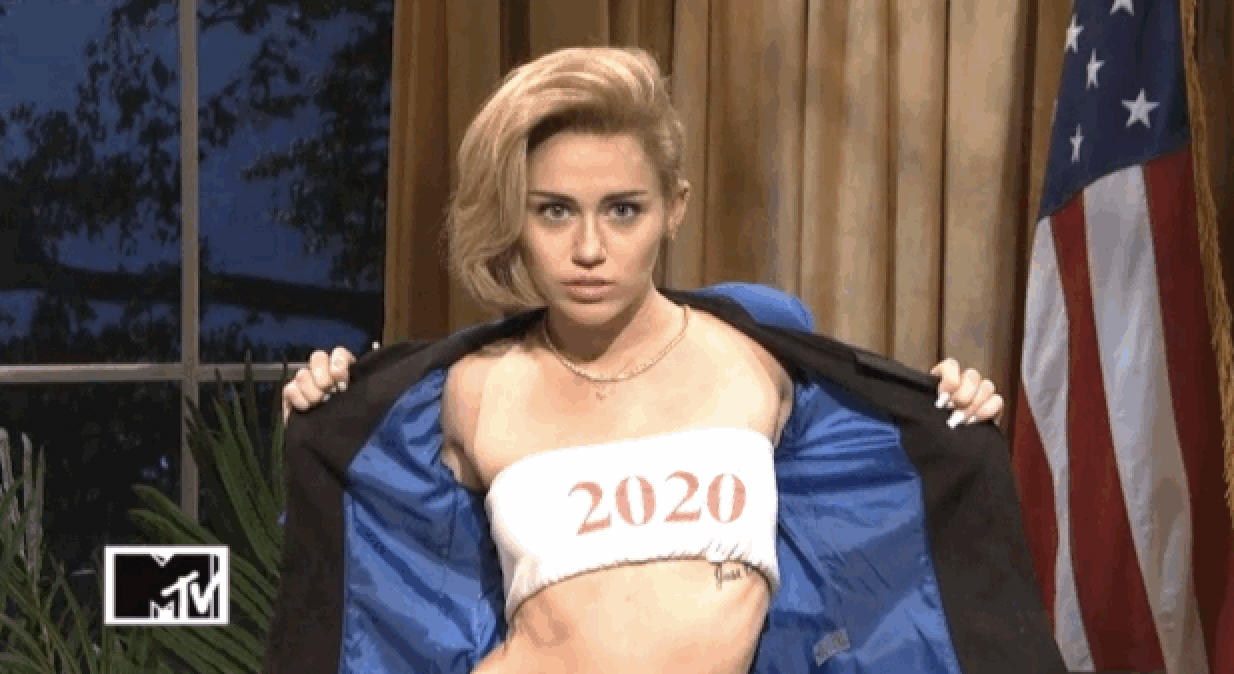 Miley Cyrus 2020 Tour Miley Cyrus Announces Plans To Run For Office In 2020   Straight